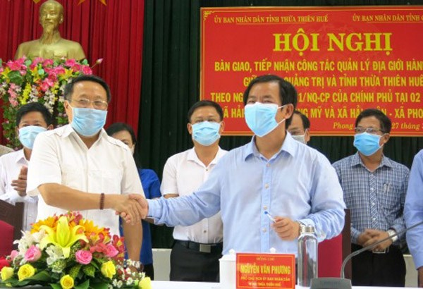 Hoàn thành tiếp nhận và bàn giao địa giới chồng lấn tại Thừa Thiên - Huế và Quảng Trị