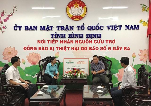 Mặt trận Bình Định: Tiếp nhận 1 tỷ đồng ủng hộ đồng bào bị thiệt hại do bão lũ
