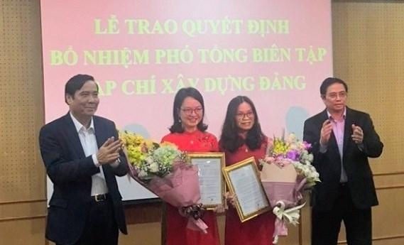 Bổ nhiệm 2 Phó Tổng Biên tập Tạp chí Xây dựng Đảng thông qua thi tuyển