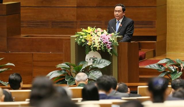 BẢN TIN MẶT TRẬN: Chủ tịch Trần Thanh Mẫn trình bày Báo cáo tổng hợp ý kiến, kiến nghị của cử tri và nhân dân cả nước