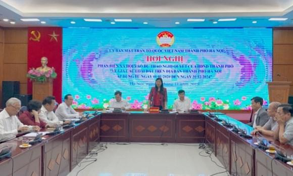 BẢN TIN MẶT TRẬN: MTTQ TP Hà Nội phản biện quy định về giá đất