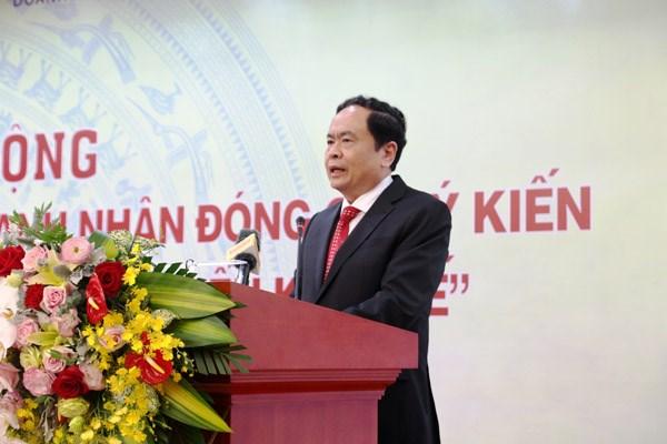 BẢN TIN MẶT TRẬN: Chủ tịch Trần Thanh Mẫn dự Lễ phát động 'Doanh nghiệp, doanh nhân đóng góp ý kiến hoàn thiện cơ chế chính sách phát triển Kinh tế'