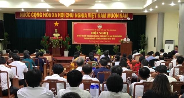 Bình Định: Sơ kết công tác giảm nghèo và bảo vệ môi trường