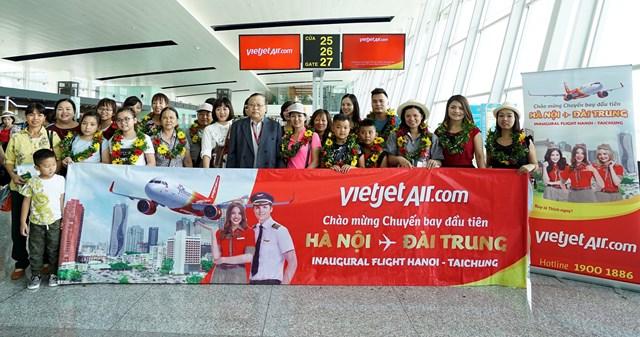 Đường bay Hà Nội - Đài Trung chính thức được Vietjet khai thác