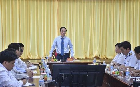 Ông Võ Văn Thưởng thăm, chúc tết Vùng 2 Hải quân