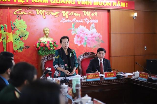 Chủ tịch Quốc hội Nguyễn Thị Kim Ngân làm việc, chúc Tết tại Đắk Lắk - 1