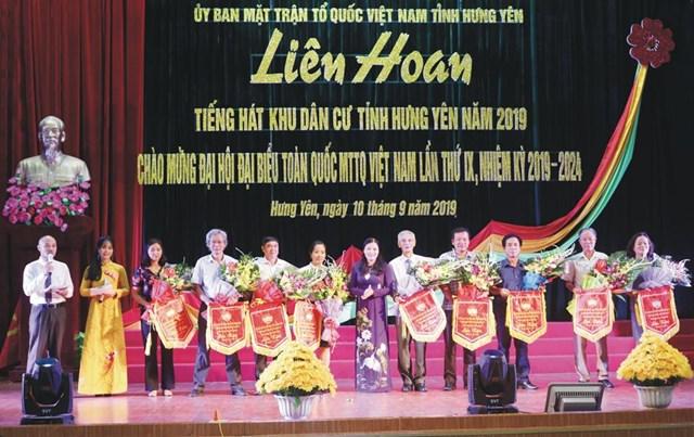 Liên hoan tiếng hát khu dân cư tỉnh Hưng Yên năm 2019
