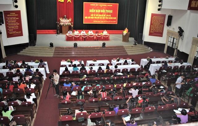 Diễn đàn 'Cấp ủy và cán bộ nữ, cán bộ Hội Liên hiệp Phụ nữ các cấp tỉnh Quảng Nam' - 1