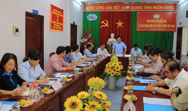 Vĩnh Long: Củng cố lòng tin của nhân dân vào hiệu quả hoạt động của MTTQ Việt Nam - 1