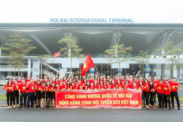 Cảng Hàng không quốc tế Nội Bài hân hoan chào đón tuyển U23