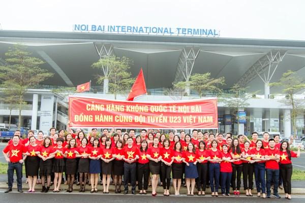 Cảng Hàng không quốc tế Nội Bài hân hoan chào đón tuyển U23 - 2