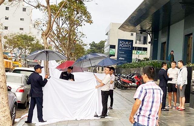 Đà Nẵng: Một người Hàn Quốc rơi từ tầng 11 xuống đất tử vong