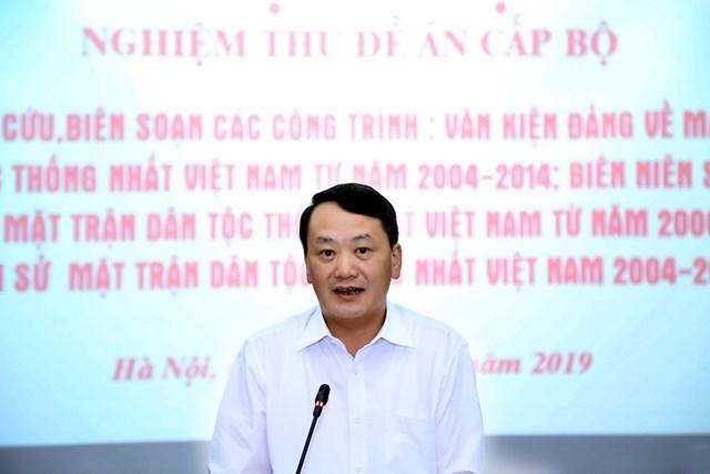 Nghiệm thu Đề tài về lịch sử Mặt trận Dân tộc Thống nhất Việt Nam