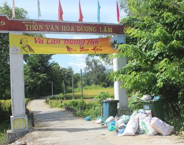 Quảng Nam: Rác thải tràn ngập khu dân cư
