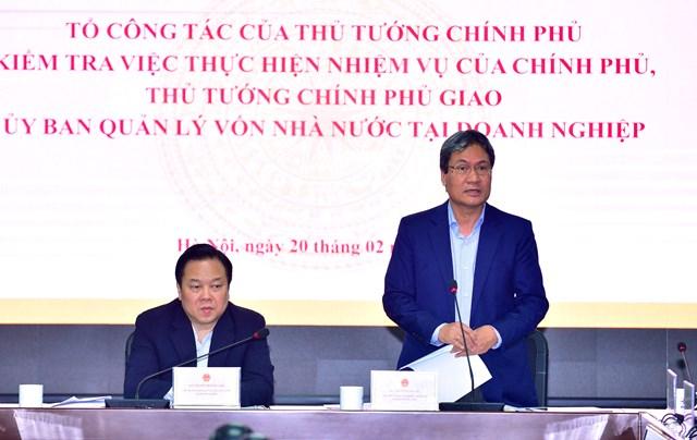 Tổ công tác của Thủ tướng làm việc với Ủy ban Quản lý vốn và 13 doanh nghiệp lớn
