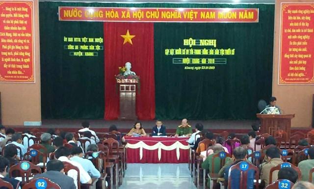 Huyện Kbang, Gia Lai: Gặp mặt người có uy tín tiêu biểu trong đồng bào DTTS