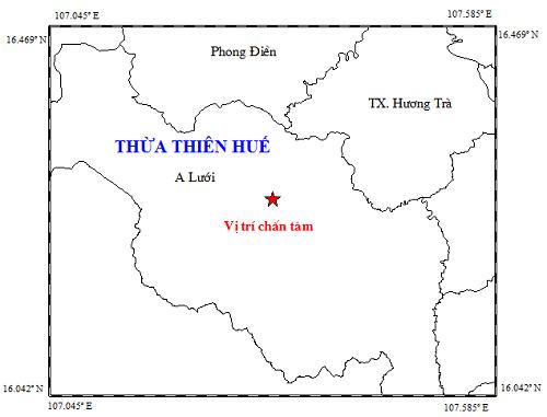 Thừa Thiên – Huế: Xuất hiện trận động đất trong đêm khiến người dân lo lắng
