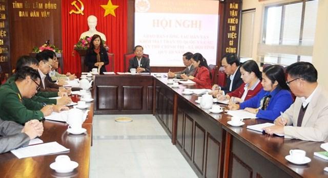 Lâm Đồng: Giao ban công tác khối Mặt trận và các đoàn thể quý III