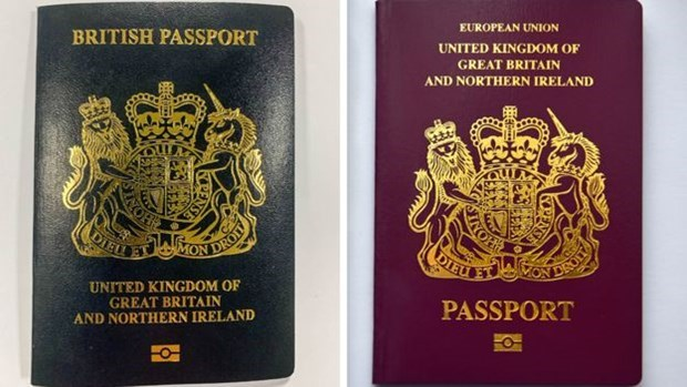 Sau Brexit, Anh chính thức đổi màu hộ chiếu kể từ tháng Ba