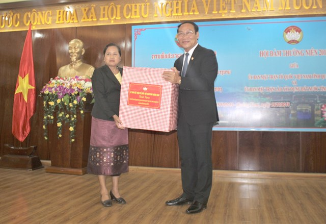Tăng cường trao đổi kinh nghiệm giữa Mặt trận tỉnh Quảng Nam và Sê Kông - 1