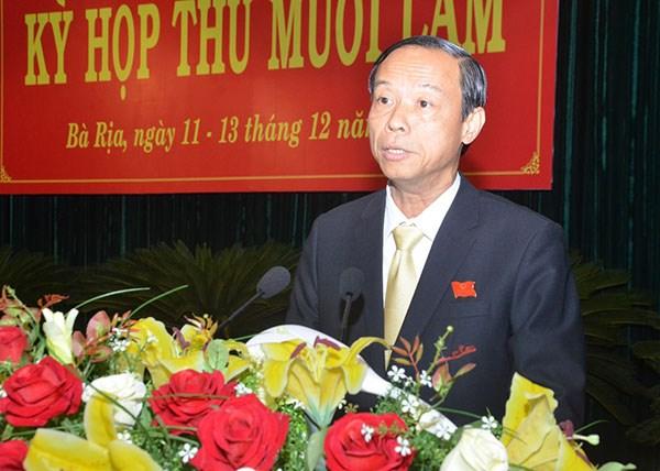 Phó Bí thư Tỉnh ủy Bà Rịa - Vũng Tàu được bầu làm Chủ tịch tỉnh