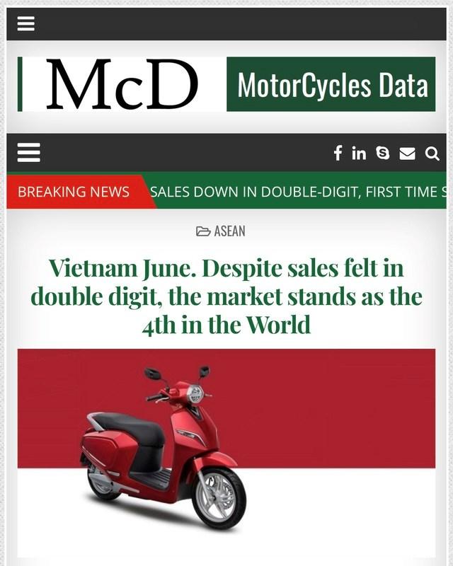 Việt Nam là thị trường xe máy lớn thứ 4 trên thế giới - 1