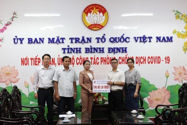 Bình Định: Mặt trận tiếp nhận 120 triệu đồng ủng hộ phòng, chống dịch Covid-19 - 1