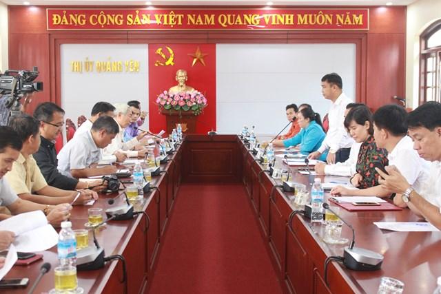 BẢN TIN MẶT TRÂN: Đoàn cán bộ Mặt trận Lào tham quan thực tế tại thị xã Quảng Yên