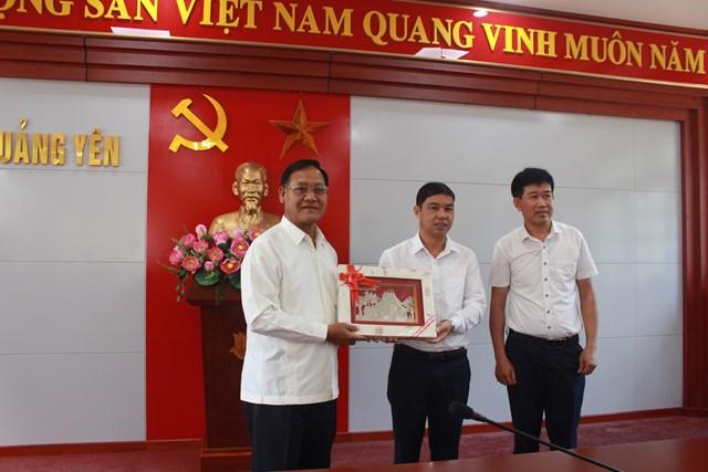 Đoàn cán bộ Mặt trận Lào tham quan thực tế tại thị xã Quảng Yên - 1
