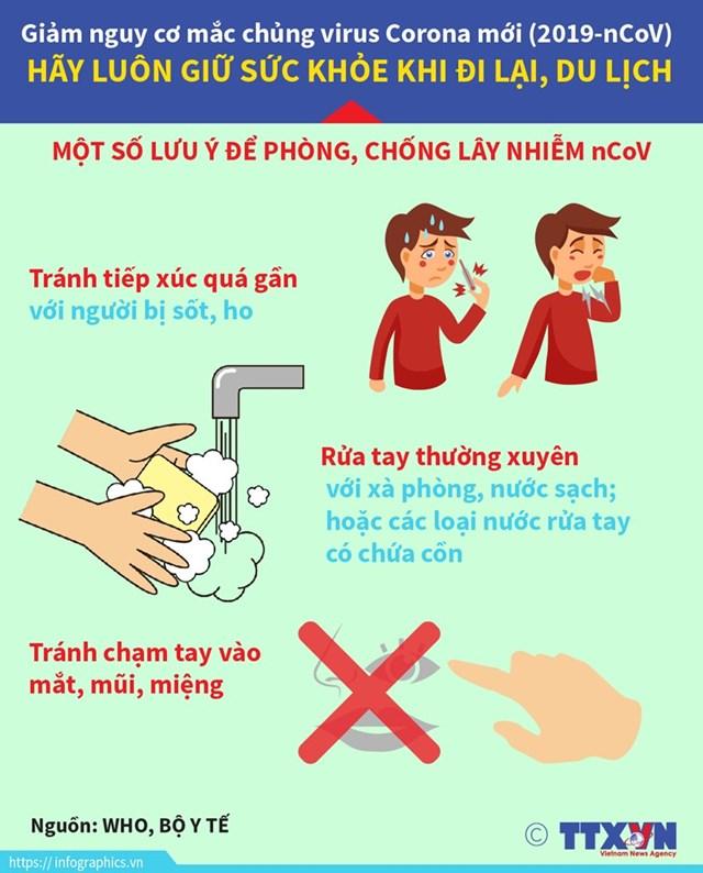 [Infographics] Những lưu ý để phòng, chống lây nhiễm virus Corona