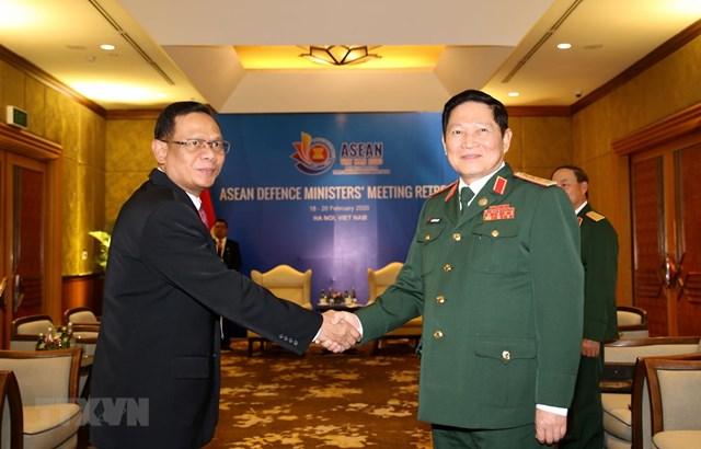 Đại tướng Ngô Xuân Lịch tiếp Đoàn cán bộ cấp cao Quân đội Indonesia