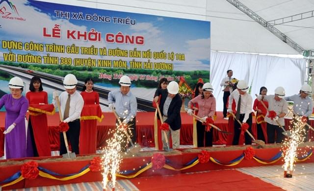 Khởi công xây dựng cầu Triều kết nối Quảng Ninh sang Hải Dương