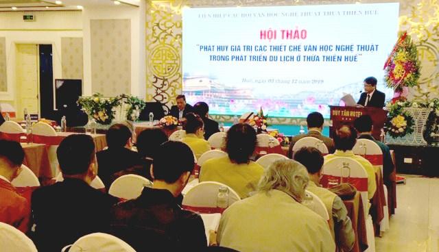 Phát huy giá trị các thiết chế văn học nghệ thuật trong phát triển du lịch ở Thừa Thiên - Huế