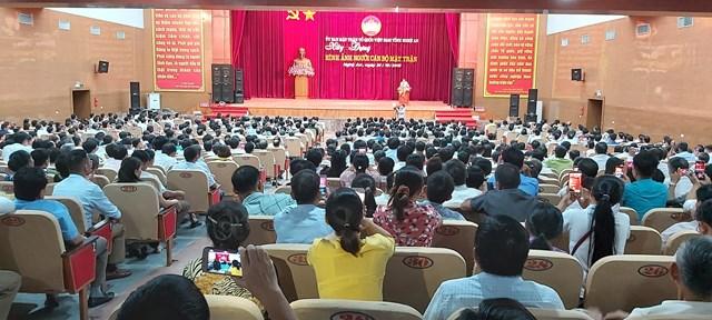 Nghệ An: Hơn 400 cán bộ mặt trận dự lớp bồi dưỡng nghiệp vụ