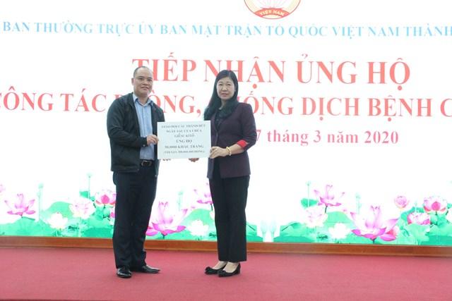 MTTQ Hà Nội tiếp nhận ủng hộ phòng, chống dịch Covid-19