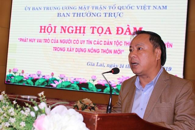 Người uy tín đóng vai trò quan trọng trong xây dựng, phát triển nông thôn mới ở Tây Nguyên - 1