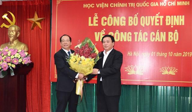 PGS.TS Lưu Văn An được giao Phụ trách Học viện Báo chí và Tuyên truyền