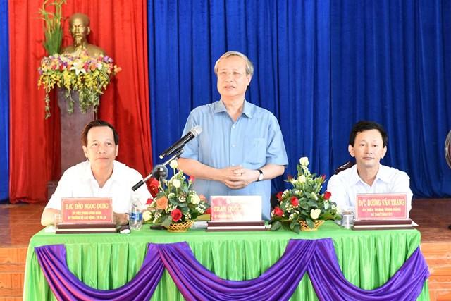 Thường trực Ban Bí thư Trần Quốc Vượng làm việc tại huyện Chư Pưh