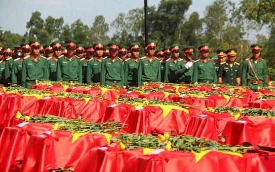 Nghệ An tổ chức truy điệu, an táng 98 hài cốt liệt sỹ hi sinh tại Lào