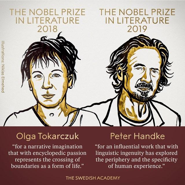 Hai giải Nobel Văn học được trao cùng lúc