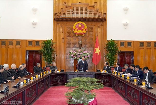 Thủ tướng tiếp Hội đồng Giám mục Việt Nam - 1