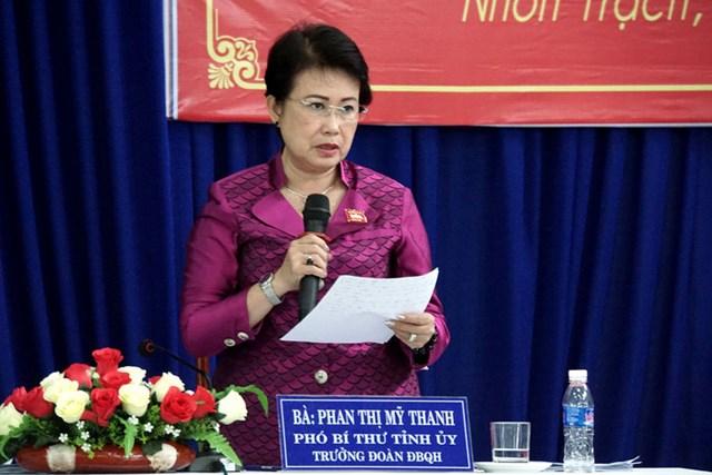 Ban Bí thư đề nghị bãi nhiệm đại biểu Quốc hội đối với bà Phan Thị Mỹ Thanh