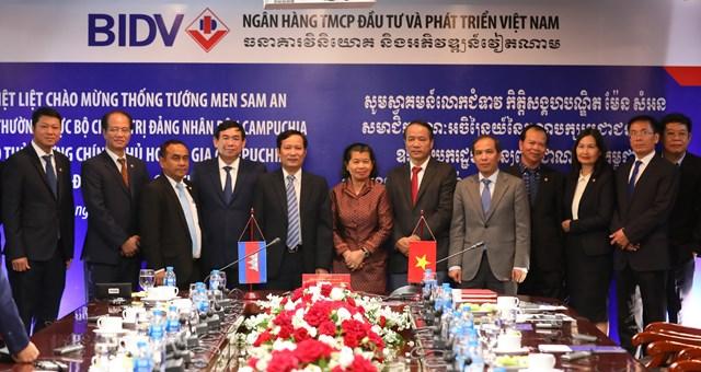 Phó Thủ tướng Chính phủ Hoàng gia Campuchia Men Sam Anthăm và làm việc tại BIDV - 2