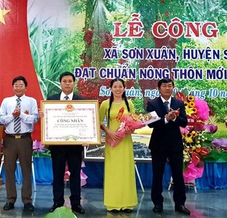 Sơn Hòa (Phú Yên): Công bố Xã Sơn Xuân đạt chuẩn nông thôn mới năm 2019