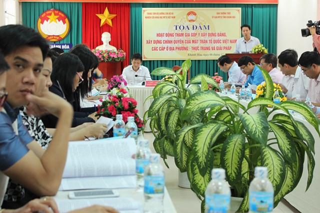 Khánh Hòa: Mặt trận các cấp tham gia xây dựng Đảng, xây dựng chính quyền