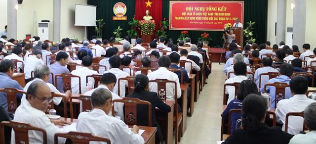 Hội nghị tổng kết MTTQ Việt Nam tỉnh Bình Định tham gia xây dựng nông thôn mới giai đoạn 2011-2020 - 1
