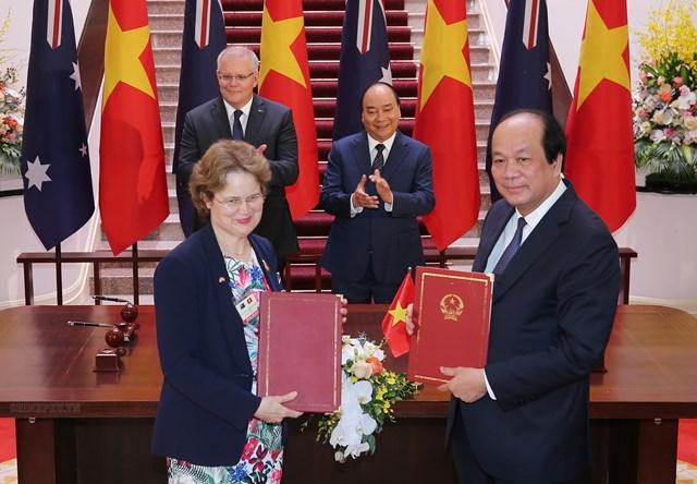 [ẢNH] Thủ tướng Nguyễn Xuân Phúc đón, hội đàm với Thủ tướng Australia - 7