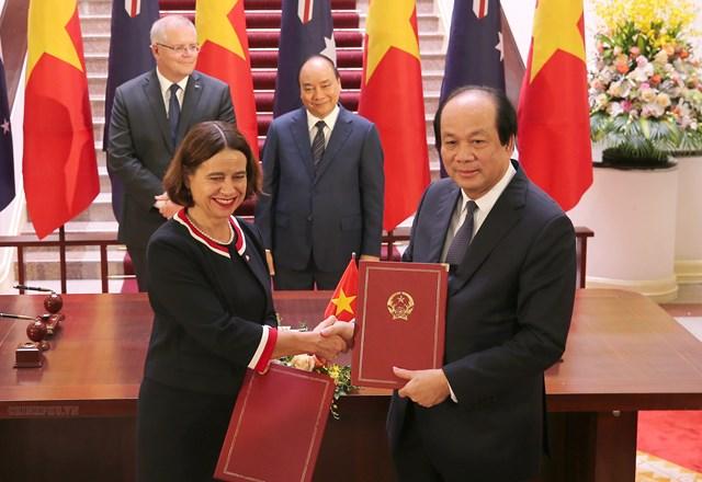 [ẢNH] Thủ tướng Nguyễn Xuân Phúc đón, hội đàm với Thủ tướng Australia - 8
