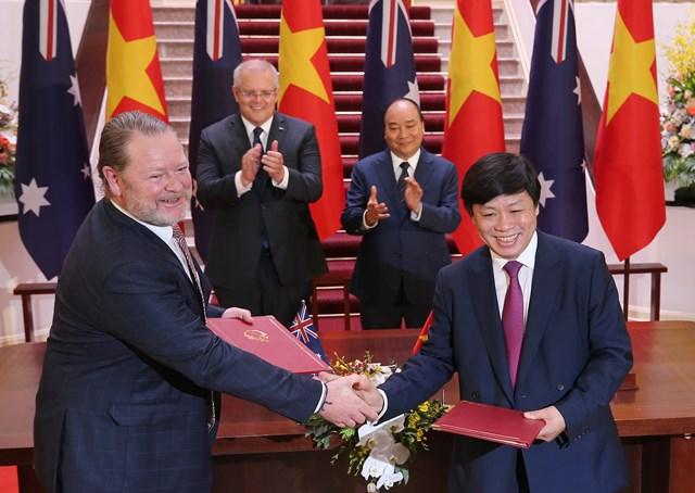 [ẢNH] Thủ tướng Nguyễn Xuân Phúc đón, hội đàm với Thủ tướng Australia - 10