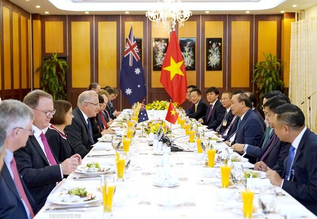 [ẢNH] Thủ tướng Nguyễn Xuân Phúc đón, hội đàm với Thủ tướng Australia - 13